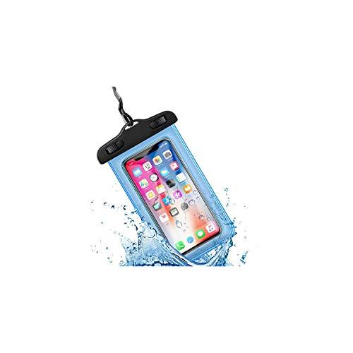 Universal-Unterwassergehäuse für iPhone X Xs Max 8 7 6 S 5 Plus-Abdeckungs-Beutel-Beutel-Kästen für Telefon Coque Wasser-Beweis-Telefon-Kasten, No-Logo-Blau