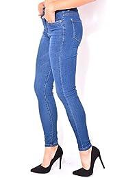 Jeans taille haute délavé