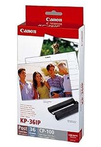 Canon Fotopapier für Canon Selphy CP 900, 36 Blatt A6 RS: Postkarte, Color Ink Paper Set, 100x148 mm, CP900