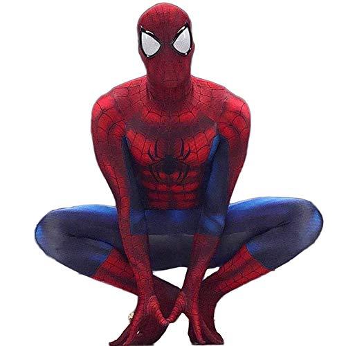 QTCWRL Cosplay Kostüm, Spider-Man Strumpfhosen Außergewöhnliche Explosion Modelle Cartoon Siamese Strumpfhosen Zeigen Volle Tasche Der Kleidung (Farbe: Rot) (Color : Red, Size : S) (Spiderman Vollen Kostüm)