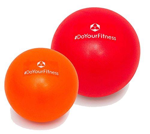 #DoYourFitness [2Stück] Mini Pilates Ball »Bola« Gymnastikball: Effektives Training gegen Verspannungen und Muskelschmerzen, in verschiedenen Größen (18cm & 23cm) / Farbe rot-orange -