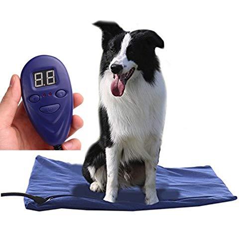 ODIBO Manta eléctrica para Mascotas, Almohadilla para Perros y Gatos, 12 V de bajo Voltaje, Impermeable...