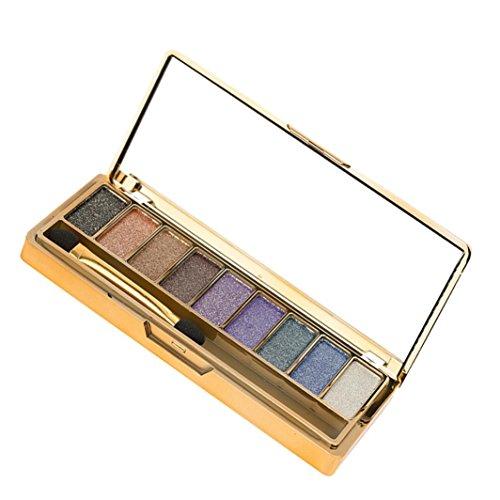 Cloom Highlighter Kosmetische Matte | Kosmetische Lidschatten Creme | Augenschatten Makeup Eyeshadow Palette | Perlisierter Lidschatten | Schimmer Set | 9 Farbe Glitzer Lidschatten Palette (A)