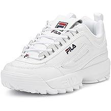 Fila Vintage Disruptor II Premium, Zapatos para Hombre, Blanco, 39.5 EU