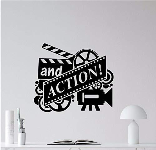 all Decal Filmrolle Kino Heimkino Vinyl Aufkleber Wand-Dekor Abnehmbare Tapete Adhesive Wall Poster 49X42 Cm ()