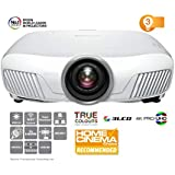 Epson EH-TW7400 3LCD 4K Pro UHD Super Resolution 2400 Lumens 300 Inch Display Motorised Optics Home Cinema Projector, White
