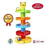 Peradix Jouet Circuit de Billes pour Bebe et Jeu de Rampe à Billes -Toddlers Balle Educatif et Puzzle Rolling Ball (Chat)