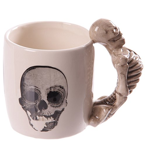 Puckator Calavera Esqueleto Taza con asa