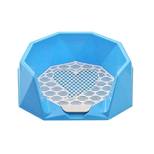 Hundetoilette, Abnehmbare Innen-Töpfchen-Trainingsmasche Für Welpenzaun Loo Pet Grooming Cleaning Urinal Basin (Color : Blue, Size : L-57 * 52 * 16cm) - Pet-loo