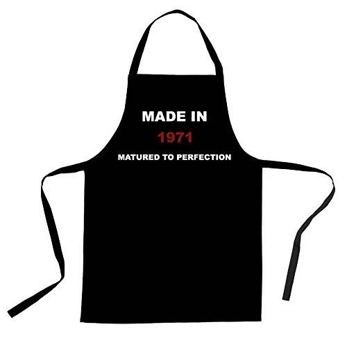 C & S Products 'Fabricado en 1971de Negro algodón Taladro Delantal, 1972, 1973, 1974, 1975, 1976, 1977, 1978, 1979