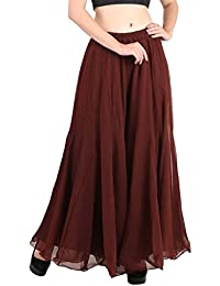 oneOeightdesigns Women Stylish Flared Stretchable Georgette Palazzo (Freesize-Yellow,Coffee,Black,Magenta,Royal Blue,Orange,Red)