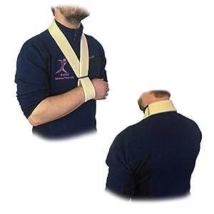 Medisure Soft Lined Foam Fully Adjustable One Size Secure Reuseable Washable Velcro Arm Shoulder Hand Brace Sling