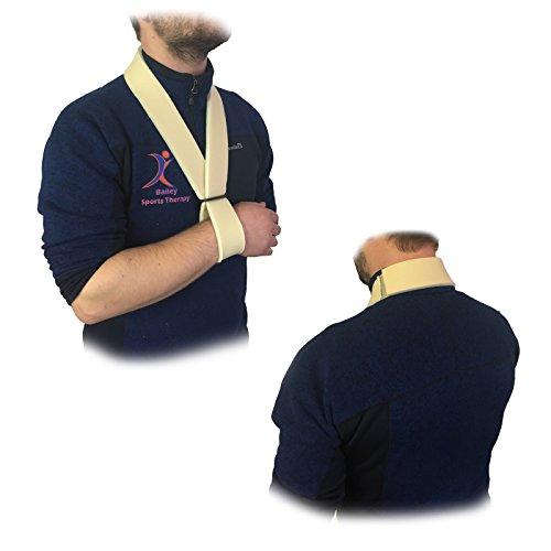 Medisure Armschlinge, Weich Gefüttert, Schaumstoff, vollständig verstellbar, einheitsgröße, Sicher verwendbar, waschbar, Klettverschluss-Armschline mit Handbandage