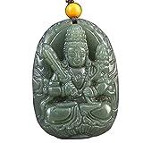 Wuligeya Colgante Collar Natural Zafiro hetian Buda Buda