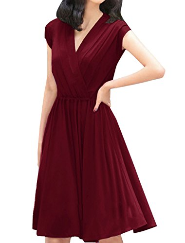 allegra-k-women-crossover-deep-v-neck-elastic-waist-dress-burgundy-m