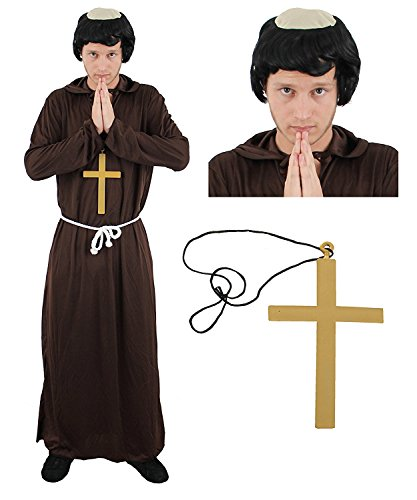 Adult Monk costume Robe set di accessori
