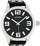 Oozoo Herrenuhr mit Lederband 51 MM Schwarz/Schwarz C1004