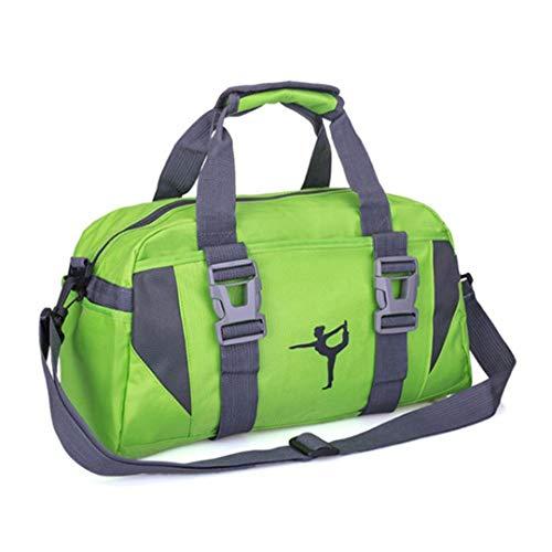 Yoga-Matte Tasche Tote Umhängetaschen Kleidung tragen Fitness Handtasche Übung Sporttaschen für Frauen Green L