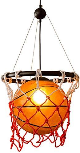 LLGDD Lámpara Colgante Estadounidense StyleCreative Baloncesto ...