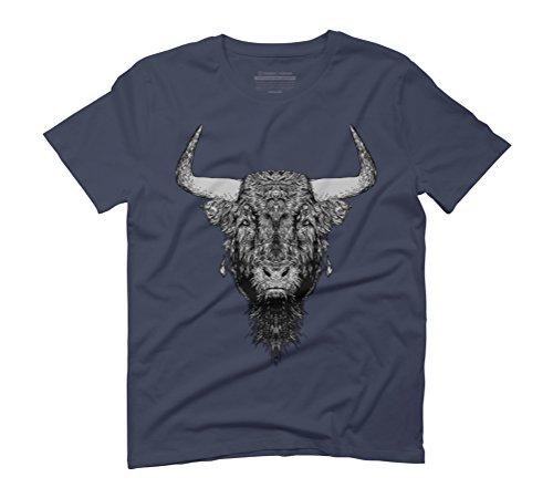 bulls Men's Graphic T-Shirt - Design By Humans Navy