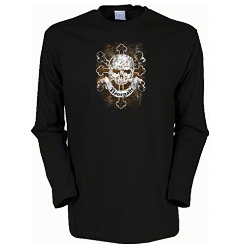 Cooles Herren Langarmshirt, Farbe: Schwarz, USA Biker Motiv: Renegade Schwarz