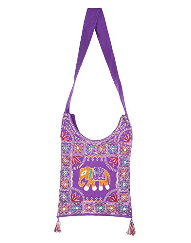 Purple Bags Jaipuri Rajasthani Ethnic Design Embroidery Hand Bag Girls Jhola Bags Jaipuri Rajasthani Sling Bag for Girls Jhola for Girl Women Ladies By Rajrang  available at amazon for Rs.449