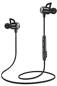 ATGOIN Cuffie Auricolari Bluetooth Wireless Magnetiche – Resistenti al Sudore con Microfono Integrato– Ideali per Corsa, Sport, Allenamento in Palestra, Ciclismo-Compatibili Compatibili iPhone Android