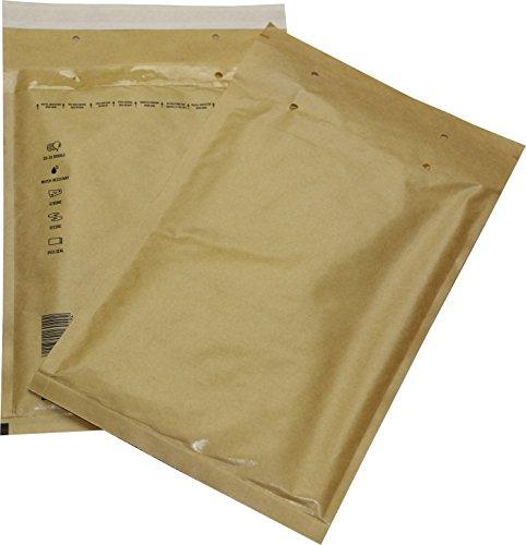 25 St. Luftpolster Versandtaschen Gr. 4 D braun/gold/gelb 200 x 275 mm Briefumschläge DIN B5 C5+ DVD Blu-ray Format