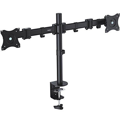 VonHaus Dual Monitor Screen Desk Mount Arm Double VESA Bracket for Twin 13
