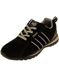 DDTX - Zapatillas de seguridad antidesgaste de acero para hombres(44) bOk8RWvX