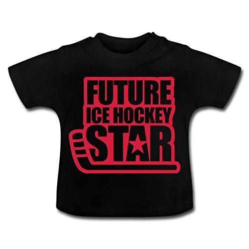 Spreadshirt Eishockey Future Ice Hockey Star Baby T-Shirt, 12-18 Monate, Schwarz
