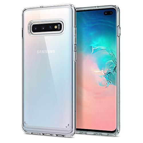 Spigen Ultra Hybrid, Cover Galaxy S10+, con Tecnologia Air Cushion e Protezione da Goccia Ibrida per Galaxy S10 Plus - Crystal Clear