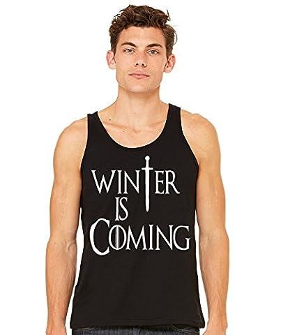 Stylotex Herren Tank Top basic Winter is Coming , Größe:XL;Farbe:schwarz