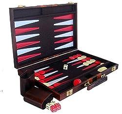 Backgammon Deluxe Spiel im Koffer Gesellschaftsspiel