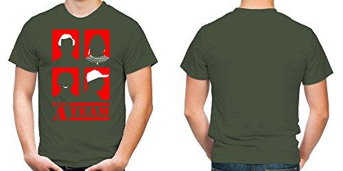 A-Team Männer und Herren T-Shirt | Spruch Hannibal B. A. Geschenk | M4 Schwarz