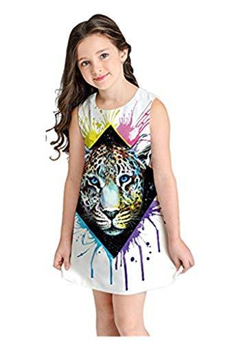 MRURIC Kleid Mädchen,Jugendlich Kleinkind-Kindermädchen Karikatur-3D kleidet beiläufige Kleidung,Denim Party Prinzessin Dress Casual T-Shirt Kleid Cocktailkleid Sommerkleider (Kleinkinder Kostüme Kreative)
