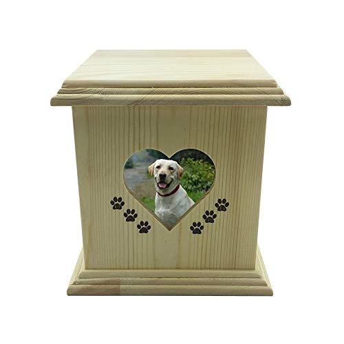 Kidnslni Holz-Urne für Haustiere Handgemachte Holz aus Haustier Hund Katze Urnen Foto,Es Kann zu Hause Oder im Büro Platziert Wird, Urns - Katze Foto Urn