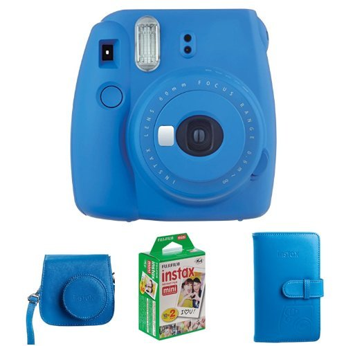 Fujifilm Instax Mini 9 Geschenkset, kobalt blau