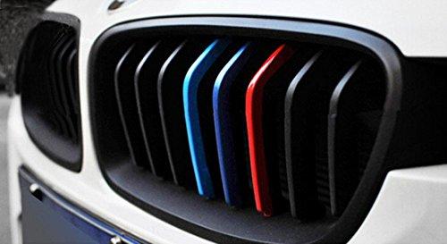 grille-stripe-decals-for-bmw-x1-x3-x5-x6-e53-e46-e39-e60-e90-e36-25cm5cmrednavy-blueskyblue