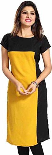 Miss Fashion Women's Cotton Yellow XX-Large Kurti (MF-34-XL)