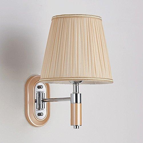 Einbauleuchten Badezimmer-fan (Fan Snow Wandlampe Schlafzimmer Nachttischlampe LED Wohnzimmer Studie Badezimmer Spiegel Lampe einfache Hotelzimmer Wippe Engineering Wandleuchte (Color : Single head))