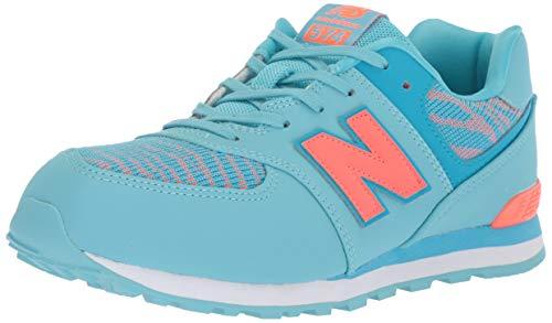 New Balance - Pre-School PC574V1 Schuhe, 34.5 EUR - Width W, Enamel Blue/Dragonfly