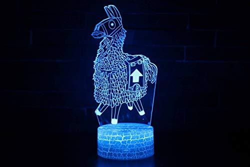 Surenhap Fortnite 3D Nachtlicht Halloween Tischlampe 7 Farben Dekoration Nachttischlampe Stimmungslicht für Halloween Weihnachten Geburtstag Baby Kinder Fortnite Spielliebhaber(Fortnite B)