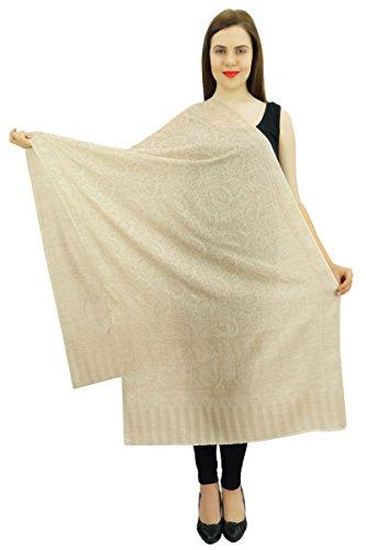 Cachemire Paisley De Soie Tête De Cou D'Impression Envelopper Écharpe Hijab Volé Les Femmes Châle Beige