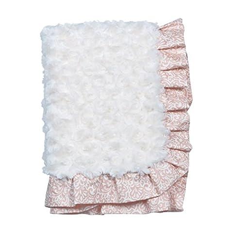 Trend Lab Waverly Rosewater Glam Ruffled Rosette Baby Blanket