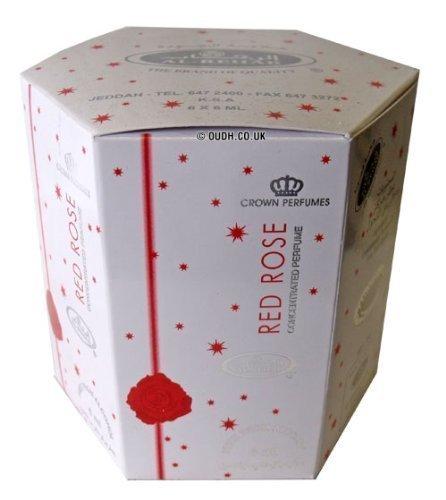 Red Rose Perfume Oil - 6 x 6ml by Al Rehab