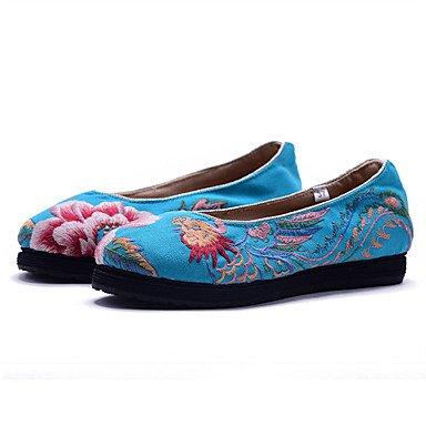 Confortevole ed elegante piatto scarpe donna Appartamenti Primavera Estate Autunno La comodità di tela abbigliamento outdoor casual Athletic tacco piatto fiore in raso nero di fiori rosa blu beige a p Pink