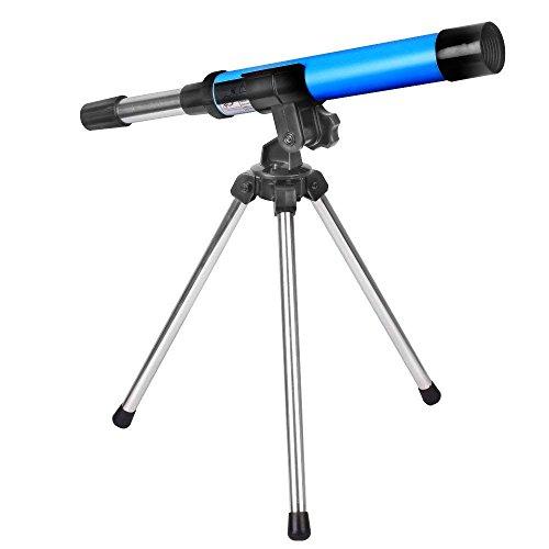 Moutec Kind Teleskop 30mm Aperture Travelscope 300mm AZ Mount - mit Stativ - Portable Teleskop Geschenk für Kinder pädagogische Anfänger (30300)