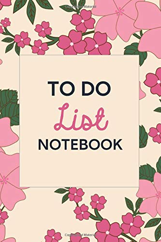 Pink Flowers Body Cream (To Do List Notebook: Green and Pink Flowers on Cream 6x9 Softcover Daily Planner for Women, To Do Checklist with 186 Embellished Pages, Under 10 Dollars)