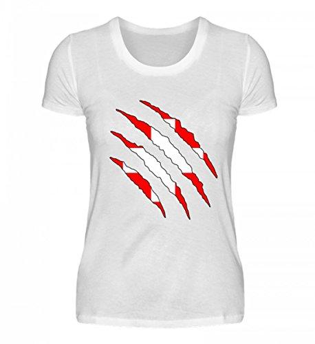PlimPlom Hochwertiges Damenshirt - Schweiz WM Fan Tshirt Schweizer Nationalmannschaft Shirt Trikot